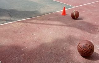 basketball field coart